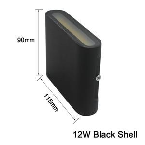 Image 4 - 북유럽 LED 벽 Sconce 옥외 점화 Decotration 계단 정원 포치 빛을위한 방수 IP65 알루미늄 AC85 265V