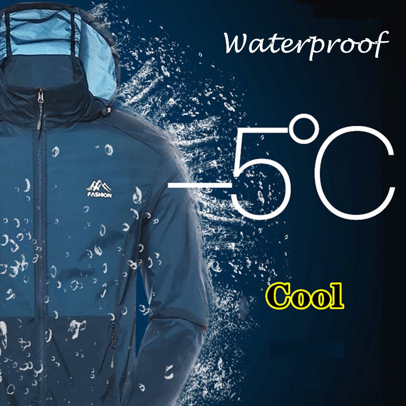 Ultrathin Lightweight Real UV Clothing Waterproof Fishing Clothes Elastic Sun Protection Jacket Men Summer Outdoors Beach Top