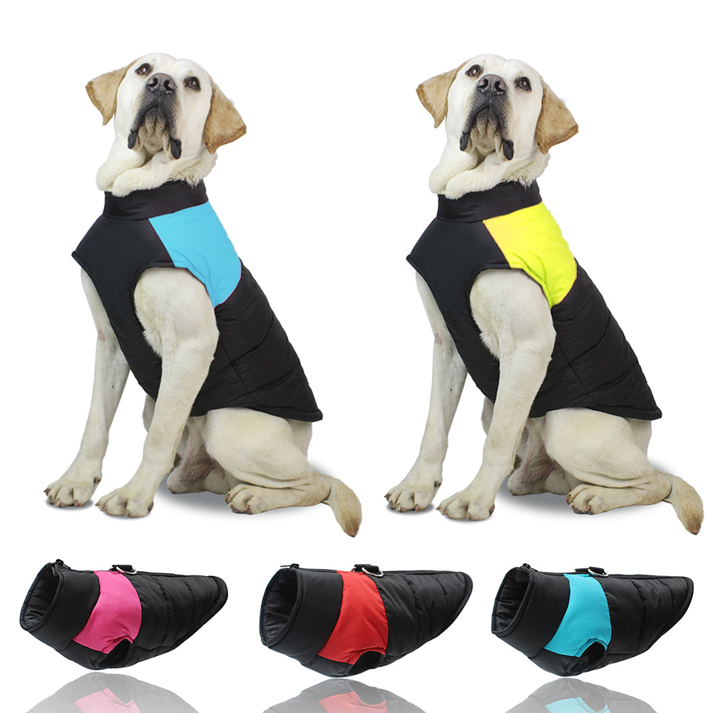 Winter Pet Clothes Small Medium Large Dog Coats Puppy Padded Jackets Pug French Bulldog Warm Fleece Vest Clothes Dog Costumes
