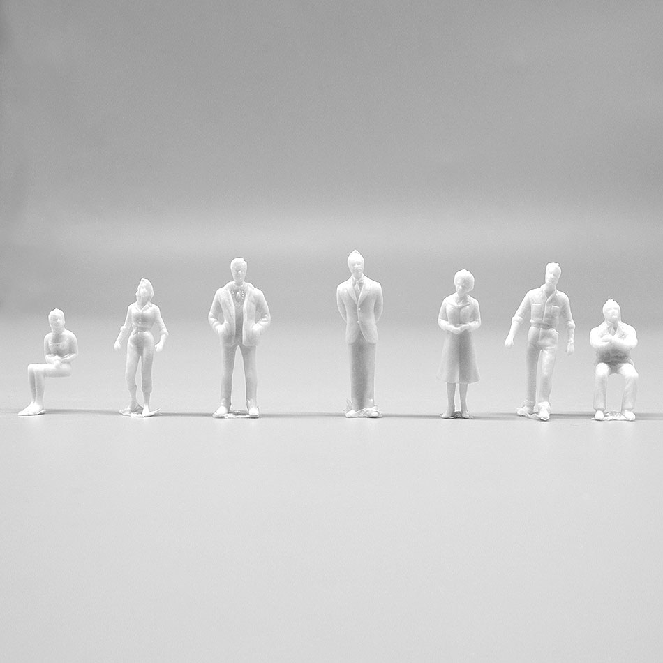 10pcs/lot 1:50 Scale 35mm Model Miniature White Figures Toys Architectural Model Human Scale Model ABS Plastic Peoples