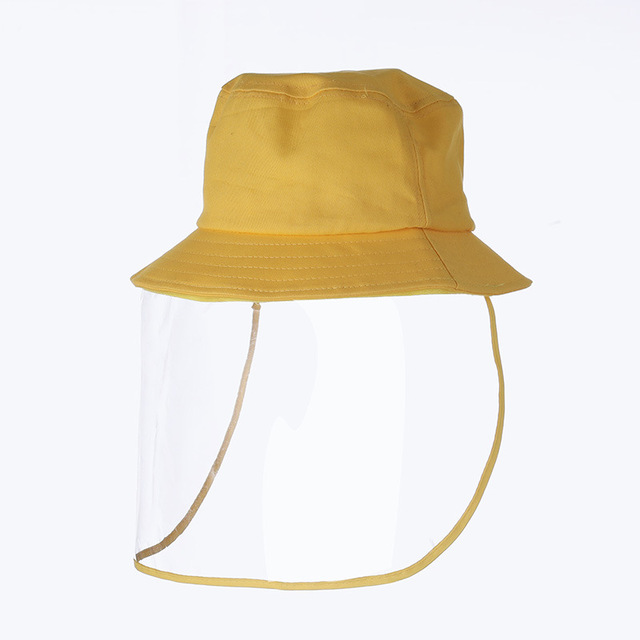 Protective Face Shield Cover Hat Anti Dust Cotton Fisherman Hat for Kids Reusable Anti Droplet Hat Mask Protective Cap 1