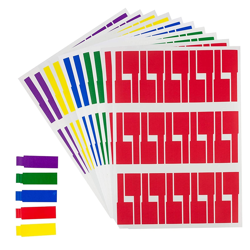 600Pcs/20 Sheets Cable Labels Tags Cable Markers Self Adhesive Cable Labels Waterproof Tear Resistant Wire Labels