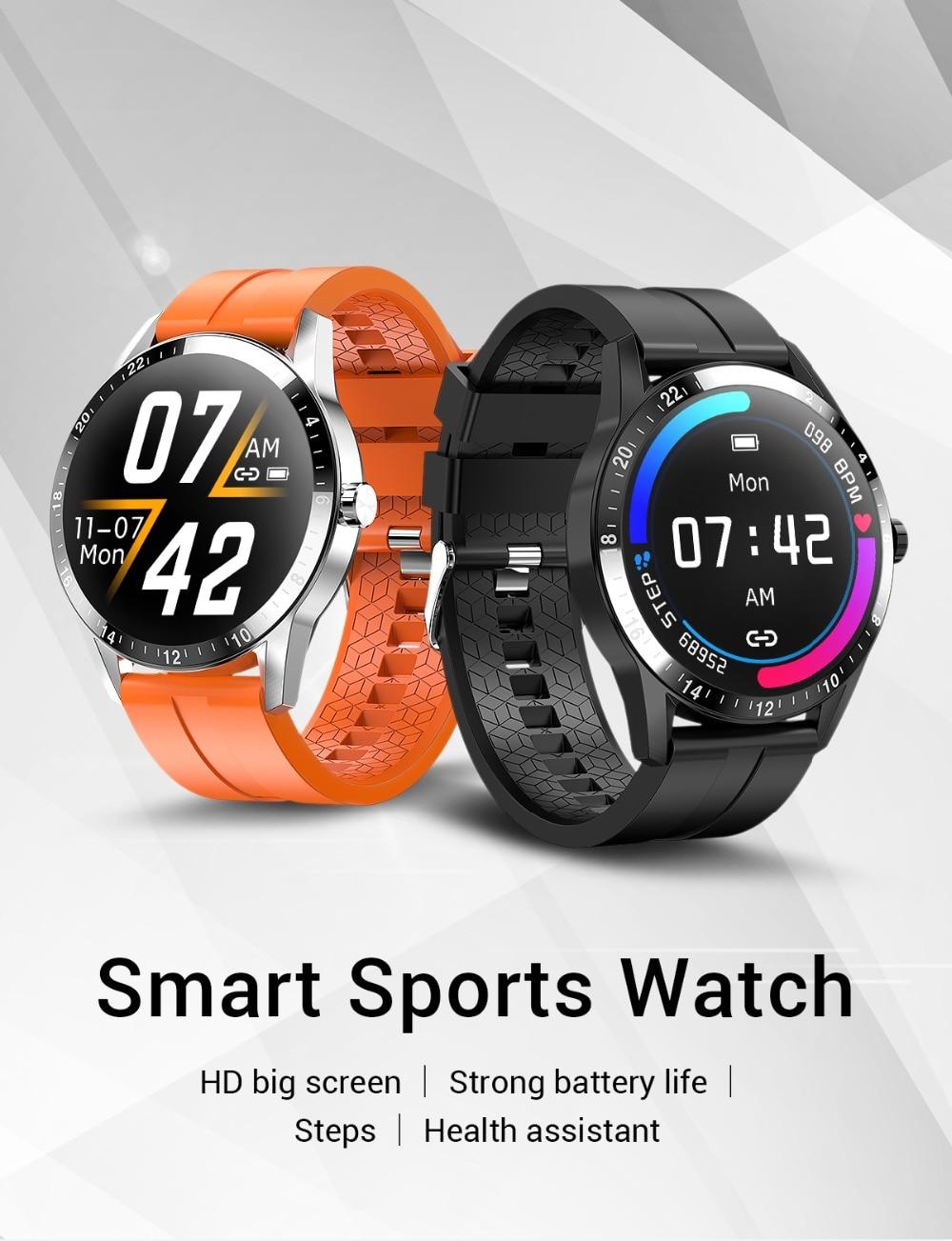 Novo relógio inteligente das mulheres dos homens