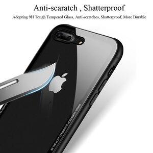 Image 3 - 아이폰 7 케이스 강화 유리 휴대 전화 케이스 아이폰 8 7 플러스 shockproof 전체 커버 아이폰 x 10 funda 액세서리