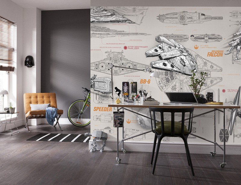 Bacal 3d Star Wars Wallpaper Wall Mural Custom Spaceship Design Blueprint Photo Wallpaper Brick Paper Bedroom Hotel Room Decor Wallpapers Aliexpress