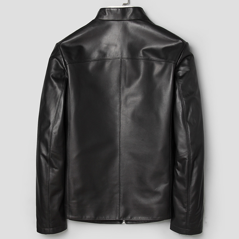 Men's Leather Jacket Spring Autumn Genuine Sheepskin Leather Jacket Men Casual Leather Coats And Jackets 71J7865 KJ2409