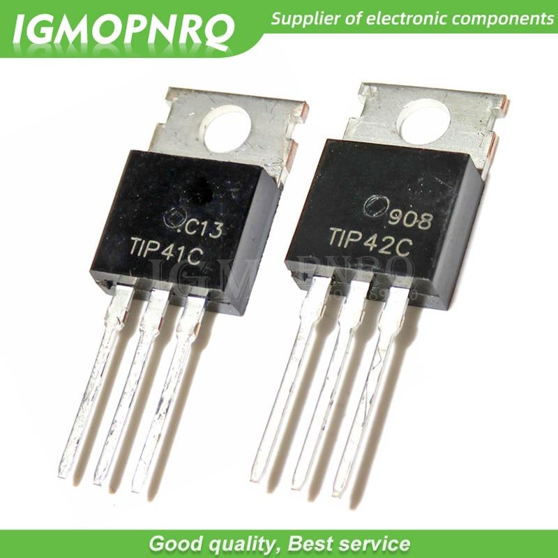 10pcs/lot TIP41C TIP42C Darlington Transistor Pair Tube TO-220 New Original