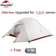 Nature randonnée nuage Up série Version améliorée tente de Camping nuage UP 2 debout libre randonnée en plein air Camping Camp tente avec tapis
