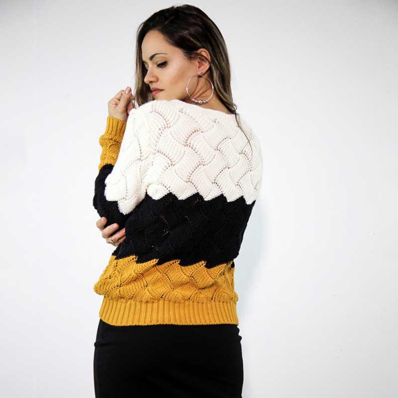 BEFORW 2019 свитер женский осень зима вязаный оверсайз свитер длинными рукавами круглым вырезом кофта женская винтажный женские пуловер кофты