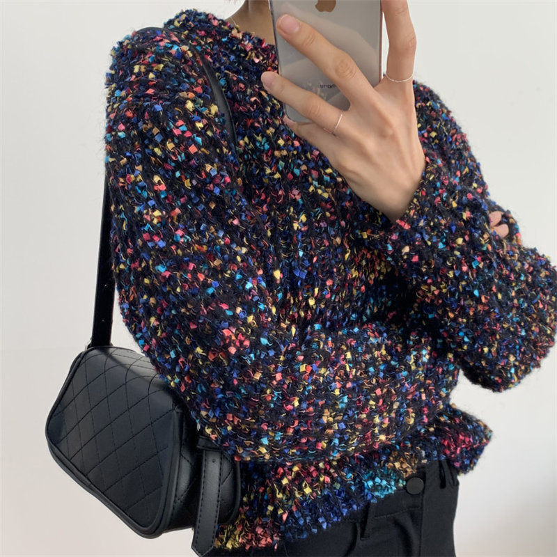 Alien Kitty Sweet Girls Colorful Dots Jumpers All-Match 2020 Hot Sale Basic Winter Retro Chic Warm Women Knitted Sweaters