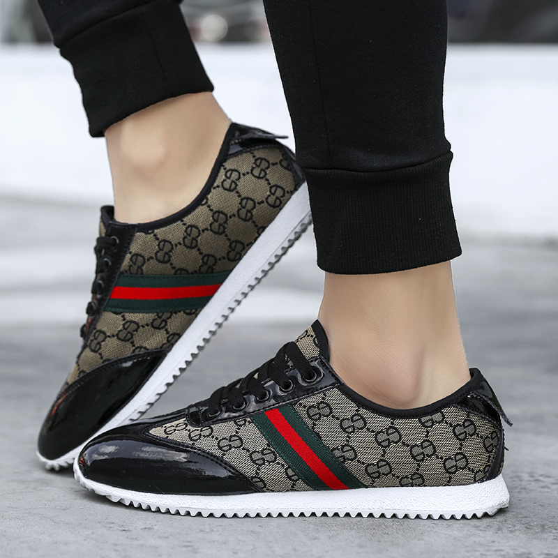 New Gump Shoes Sports Soft-soled Running Shoes Korean Trend Winter Board Shoes Non-slip British Men's Shoes Onizuka Tiger Shoes