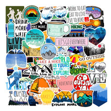 50PCS Outdoor Adventure Hiking Adventure Stickers For Car Styling Bike Motorcycle font b Phone b font