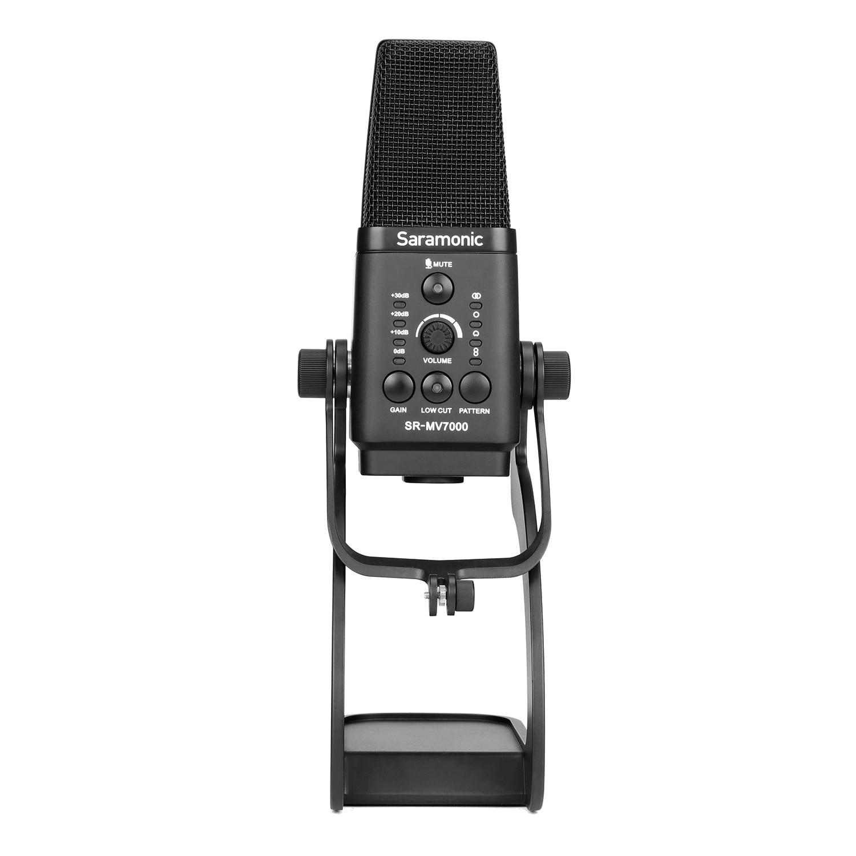 Micro à condensateur XLR & USB multi-motifs SR-MV7000 XLR/USB pour enregistrement, conférence, Interview, diffusion en direct et plus encore