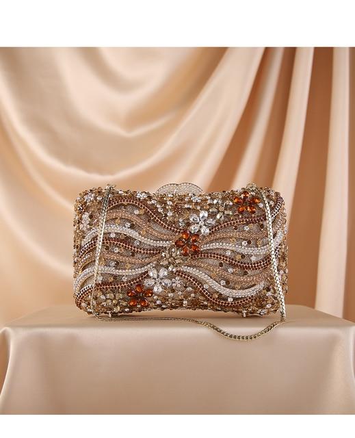 Silver Gold Black Crystal Diamond Beading clutch  6