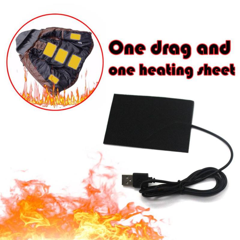 Hot Sell 1 Set Electric Heating Pads Thermal Clothes Warmer Heated Jacket Mobile Warming USB Switch For DIY Heated Clothing