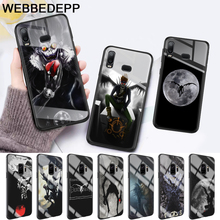 Death Note Ryuk Glass Case for Samsung S7 Edge S8 S9 S10 Plus A10 A20 A30 A40 A50 A60 A70 8 9 10