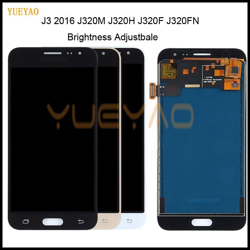J320 Adjustment For Samsung Galaxy J3 2016 Display J320 J320F J320M J320Y LCD Touch Screen Digitizer Display Assembly Parts