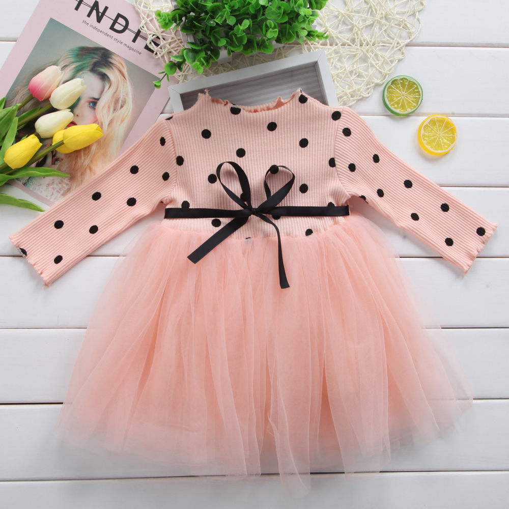 Baby Long Sleeve Dress for Girl Children Costume Gift School Wear Kids Party Dresses for Girl 1 2 3 4 5 Years Holiday Clothes 4