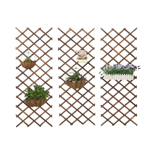 Enclosure Bamboo Fence Fence / Decoration Metope Vine Flower / Carbonization Grid / Partition / Anticorrosive Woodiness Flexible
