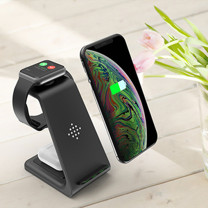 Image 3 - チー 3 1 ワイヤレス充電器でiphone 11/xs/x/airpodsプロ/iwatch 5/4 高速充電ワイヤレス充電用スタンドS10/芽/腕時計