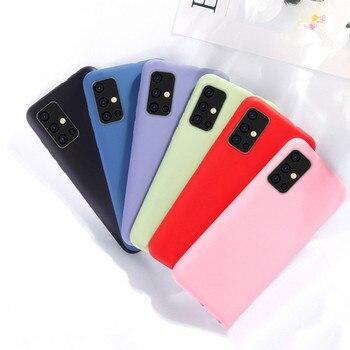 Перейти на Алиэкспресс и купить Для Samsung Galaxy A51 резиновый жидкий силиконовый Ударопрочный Мягкий чехол для Samsung Galaxy A01 A11 A21 A31 A41 A71 S20 S20 Ultra Galaxy Note 10 Lite S10 Lite A21S M21 M31