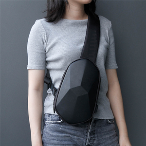 Image 3 - Sling Bag Tajezzo Polyhedron Chest Bag Waterproof Shoulder Bag Sports Chest Pack For Mens Women Travel Camping Crossbody