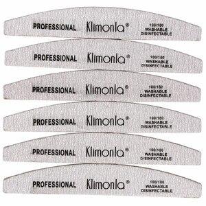 Деревянные пилки для ногтей, 50 шт., профессиональное шлифование наждачной бумагой и полумесяцем, 100/180, уход за ногтями, маникюрные инструмен...