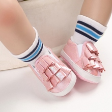 2020 Newborn Baby Boys Girls Pu Leather Shoes Soft Sole Toddler shell First Walkers Shoes 0-18Months