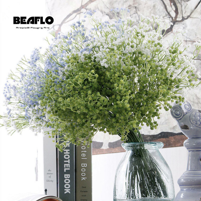 1pc Artificial Baby's Breath Flower Gypsophila Fake Silicone plant for Wedding Home Hotel Party Decoration 5 Colors 4