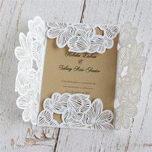 الريفية ليزر الزفاف بطاقة دعوة الزفاف دش الزفاف بطاقات المعايدة عيد ميلاد