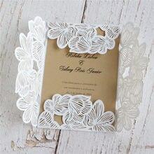 Rural Laser Wedding Invitation Card Bridal Shower Birthday Greeting Cards