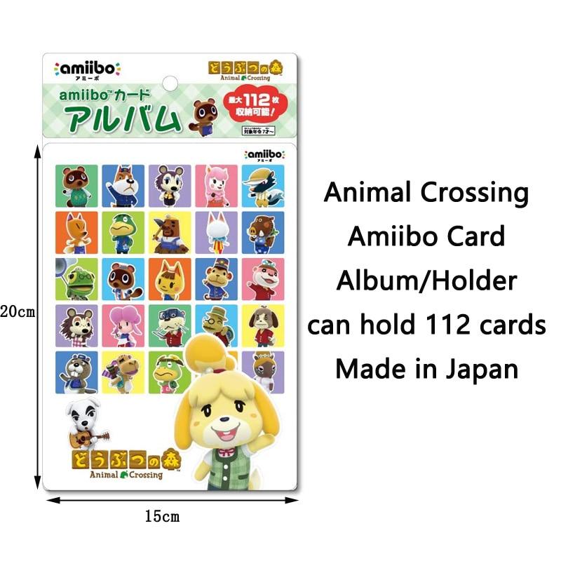 Альбом для карт Nintendo Amiibo для сериала про пересечение животных, сделано в Японии, вмещает 112 карт