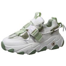 Times novos tênis femininos romanos 2020 outono moda fivela plataforma tênis mulher sapatos casuais plus size 41 42
