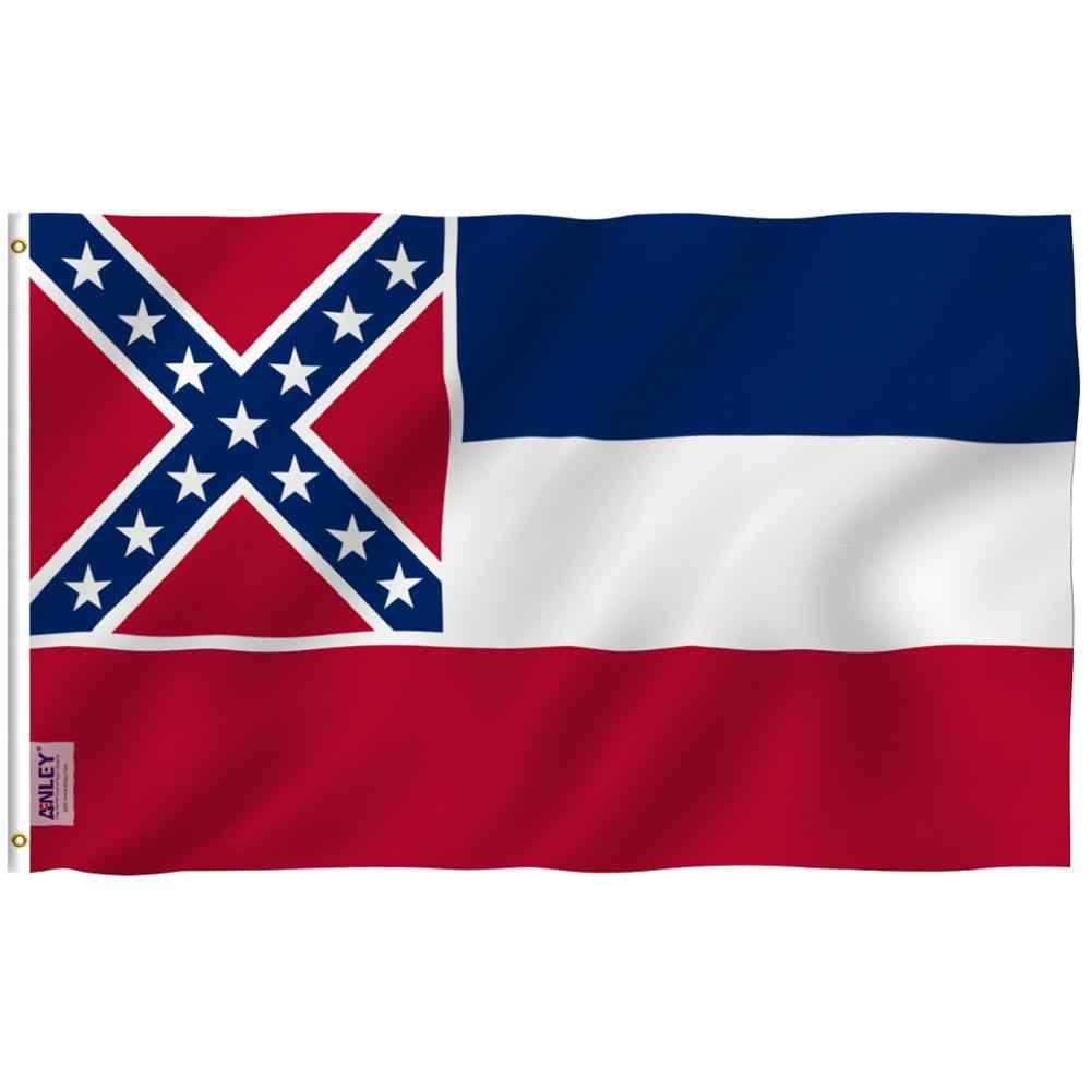 Mississippi Flag 3x5 Feet House Banner Grommets Super Polyester Flag 3x5 ft