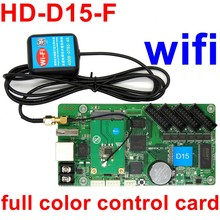 HD-D15-F, wifi, асинхронный, полноцветный светодиодный, контрольная карта, видео, USB, светодиодный дисплей, контроллер 640*64 пикселей, 4* hub75E порта