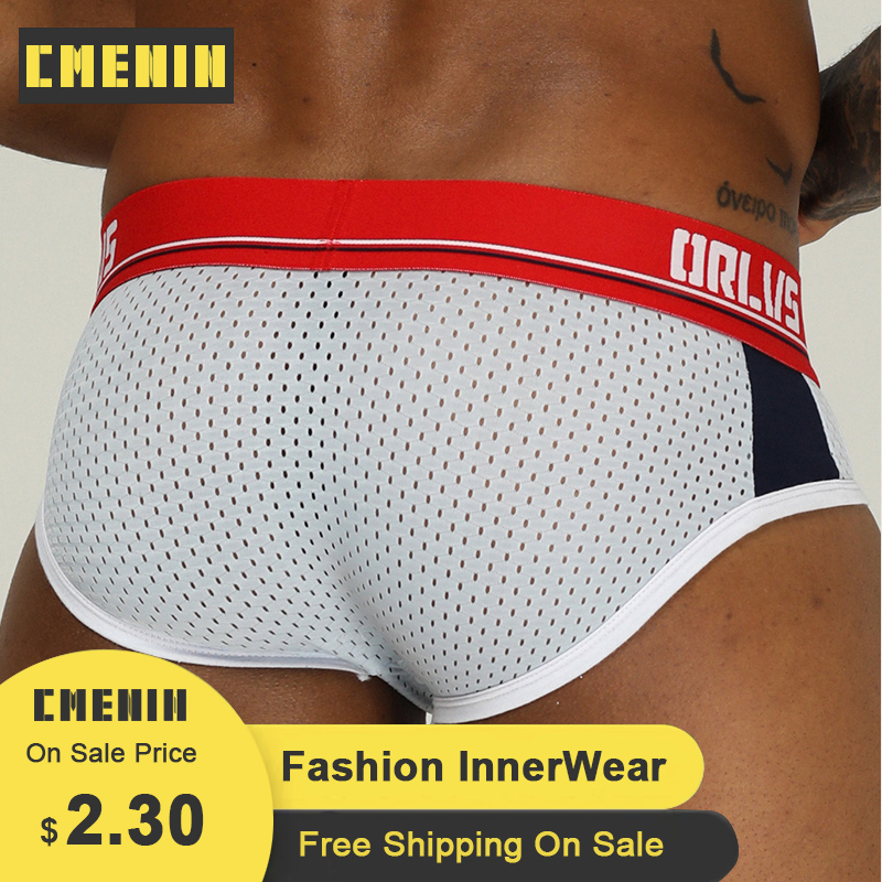 CMENIN Push Up Men Jock Strap Sexy Men Underwear Briefs Gay Male Jockstrap Bikini OR192 2020 Brief Men Mesh