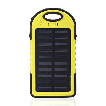 Solar 20000mAh power bank Portable Solar Panel Dual USB Battery Pack Charger Charging LED Battery Charger For iphone5 6 7 8 X 4