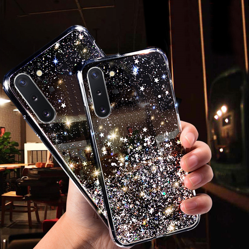 Bling Star Case For Samsung Galaxy Note 10 A50 S10 S8 S9 Plus S10e M20 M10 A30 A10 A20 A40 A70 A6 A7 A8 A9 J4 J6 Plus 2018 Cover image