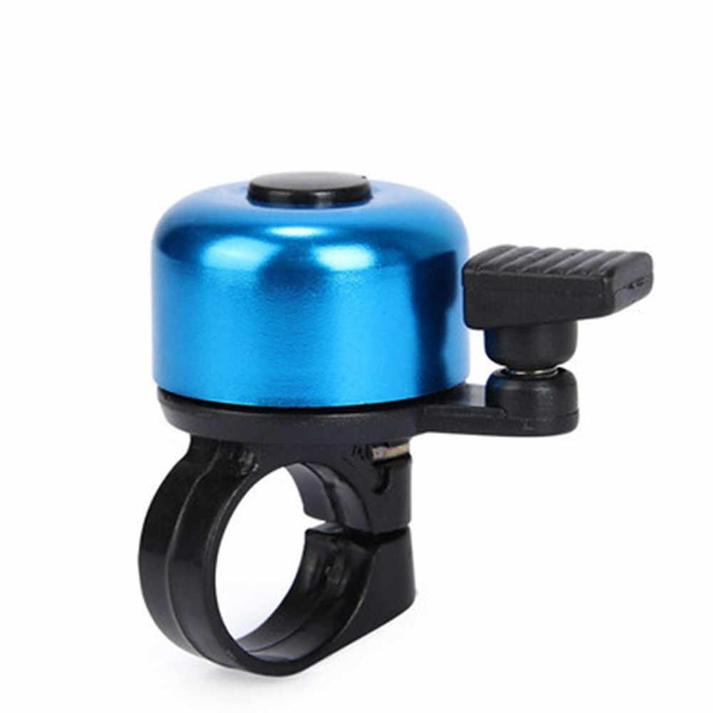 Sepeda Bells Aksesori untuk Keselamatan Bersepeda Lonceng Cincin Logam Hitam Sepeda Bell Horn Suara Alarm Outdoor Pelindung Bell Cincin A30729