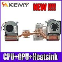 Novo original para Asus Strix TUF 6 FX505GM FX705GM FX86SM FX705DU FX505DU FX86DU laptop CPU GPU dissipador de calor com ventilador de refrigeração