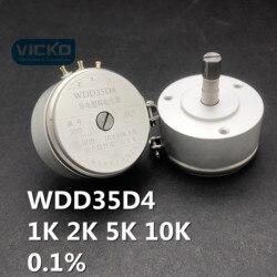 WDD35D 0.1% 1K WDD35D-4 WDY35D4 1K 2K 5 K, 10 K, 0.1%, plástico conductivo potenciómetro ángulo interruptor sensor de WDD35D4