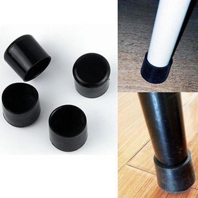 4pcs 2019 PE Plastic Round Chair Leg Caps Covers Rubber Feet Protector Pads Furniture Table Covers Socks 16mm/19mm/25mm/30mm 1