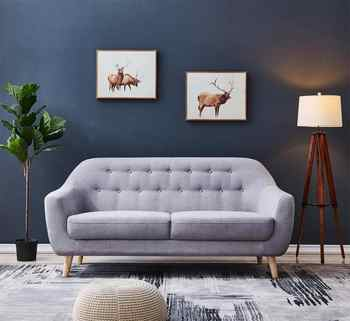 Contemporary Modern Sofa Fabric 67 - gray Furniture Living Room Polyeser Fabric Sofa only can ship to usa - DISCOUNT ITEM  20 OFF Furniture