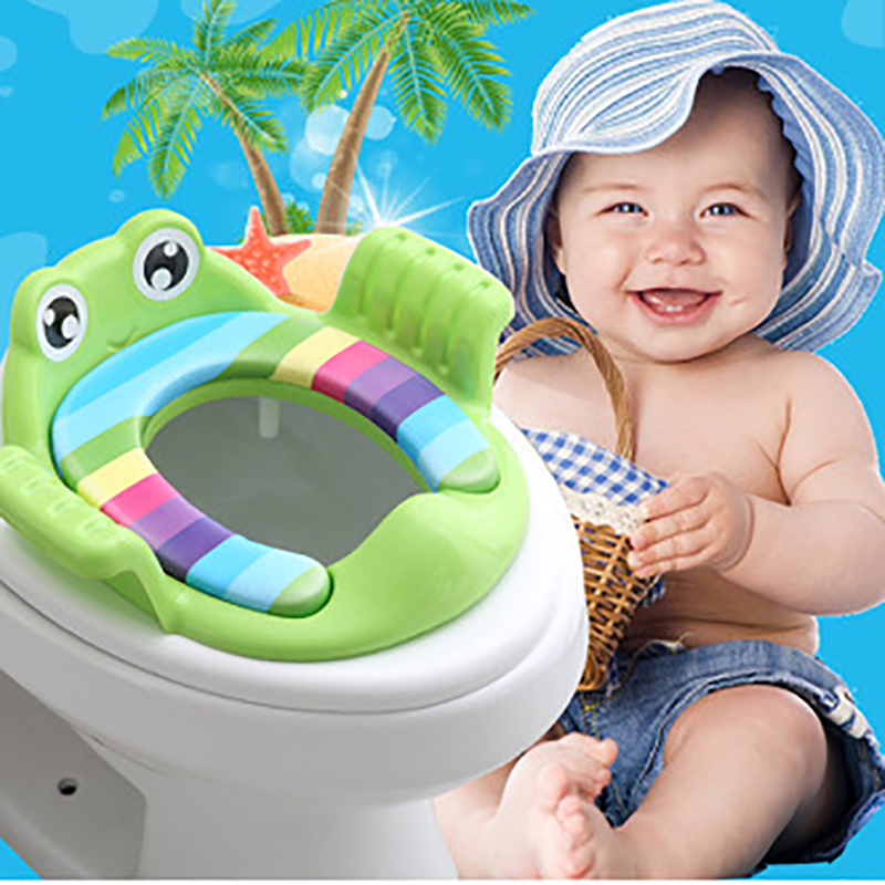 Baby Toilet Seat Cushion Cartoon Toilet Seat Ring Cute Adjustable Male And Female Baby Child Seat Washer