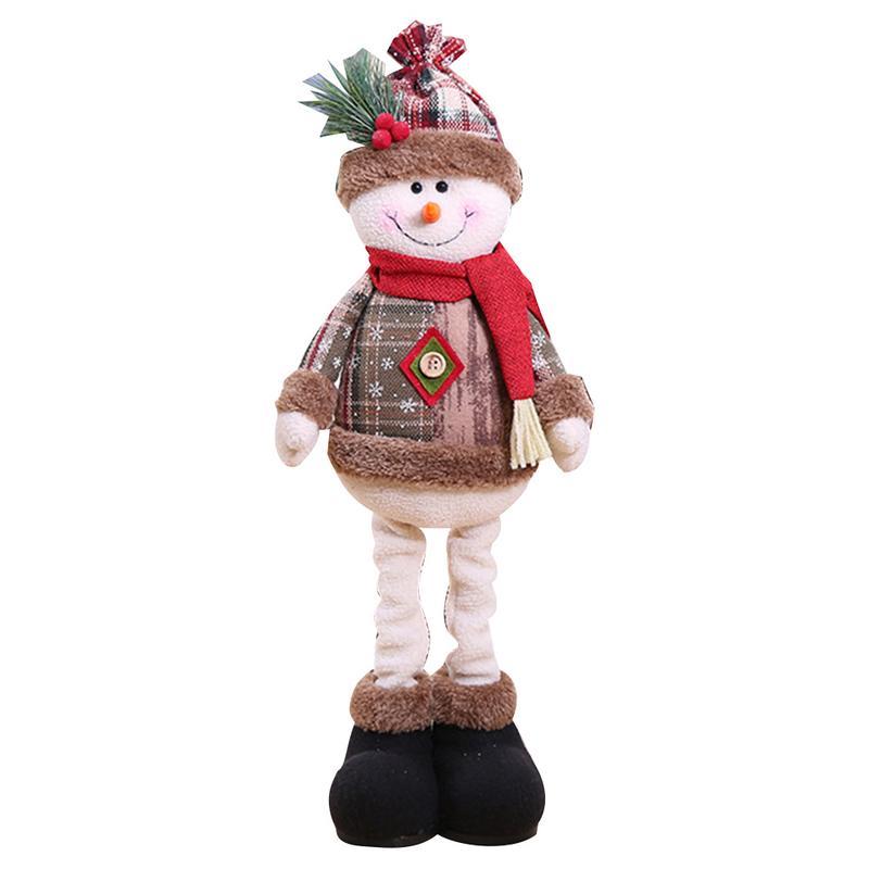 Хит, 30 стилей, рождественские украшения для дома, Рождественские куклы, елочные украшения, инновационная декорация с лосем, Сантой, снеговиком - Цвет: B 60x18cm