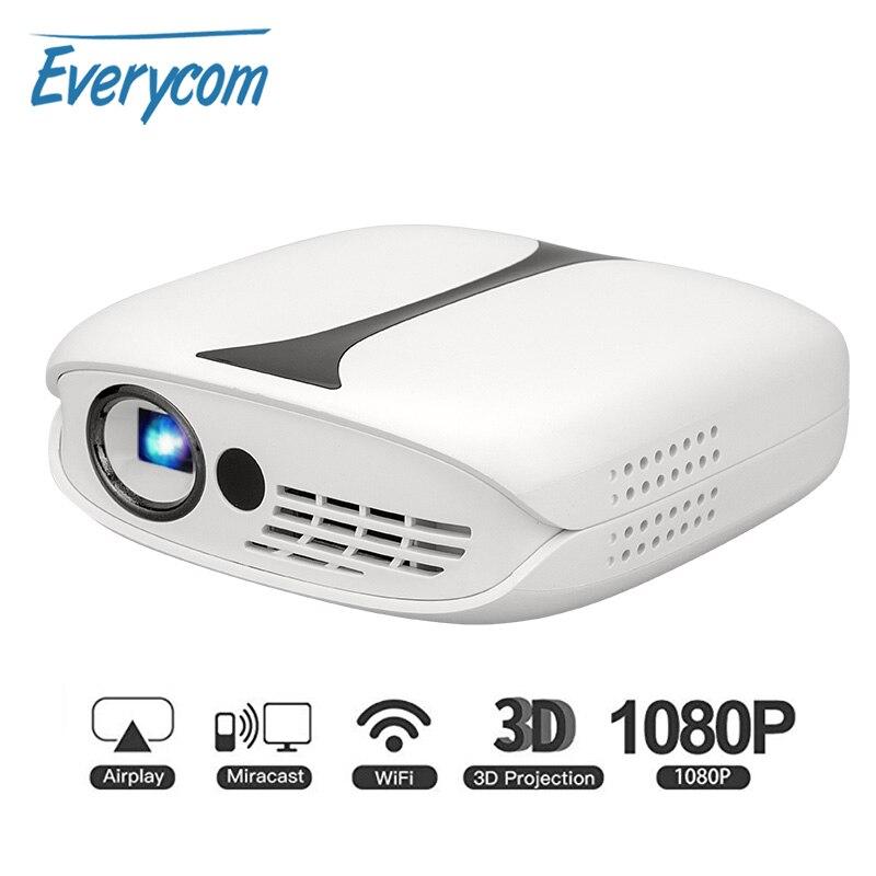 Multi-projecteur RD606 Mini projecteur HD LED DLP 3d Wifi projecteur en option Android 7.1 projecteurs Pico de poche Support de batterie 1080p