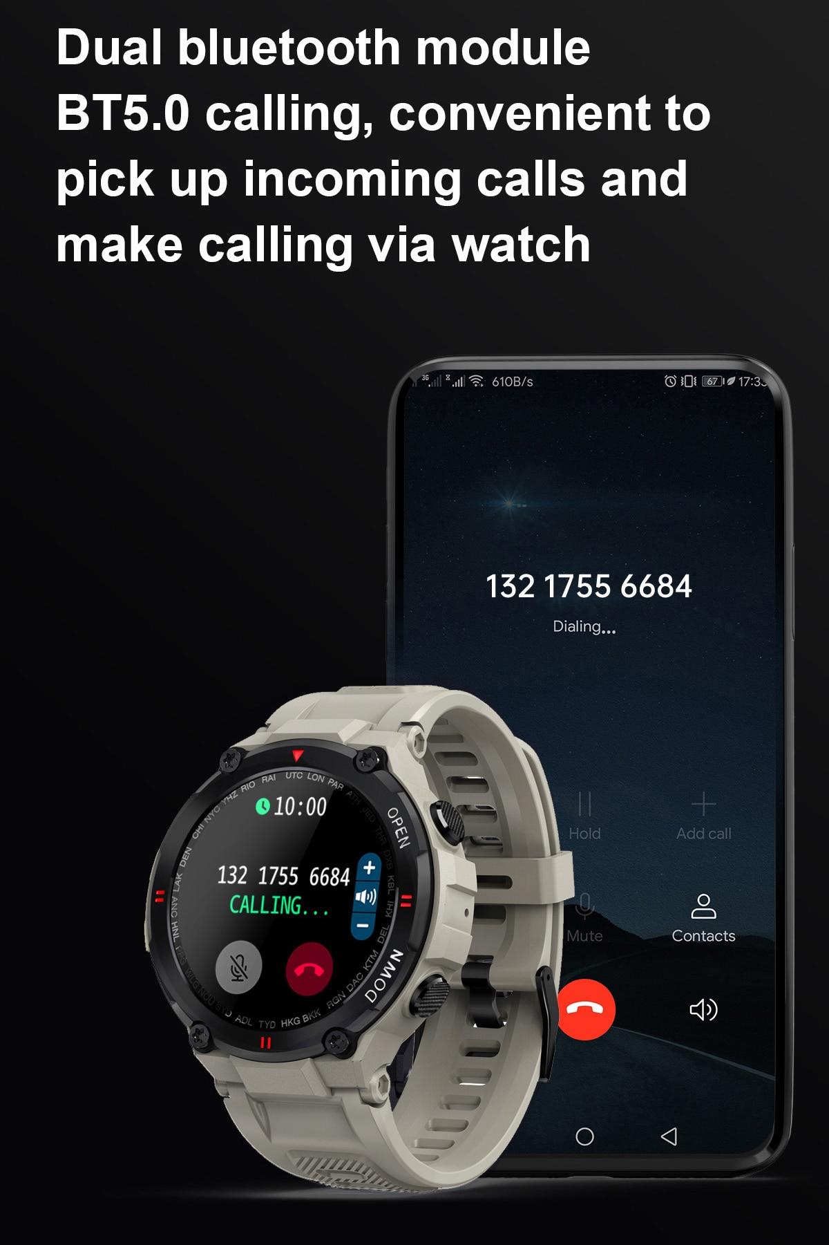 Xiaomi relógio inteligente homem ip67 bluetooth chamada
