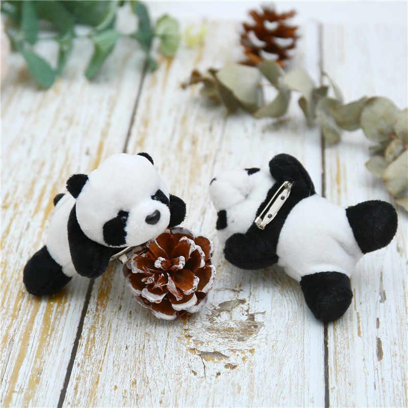 10 centímetros Japonês Broche de Panda De Pelúcia Panda Brinquedo De Pelúcia Pano Saco de Acessórios de Decoração