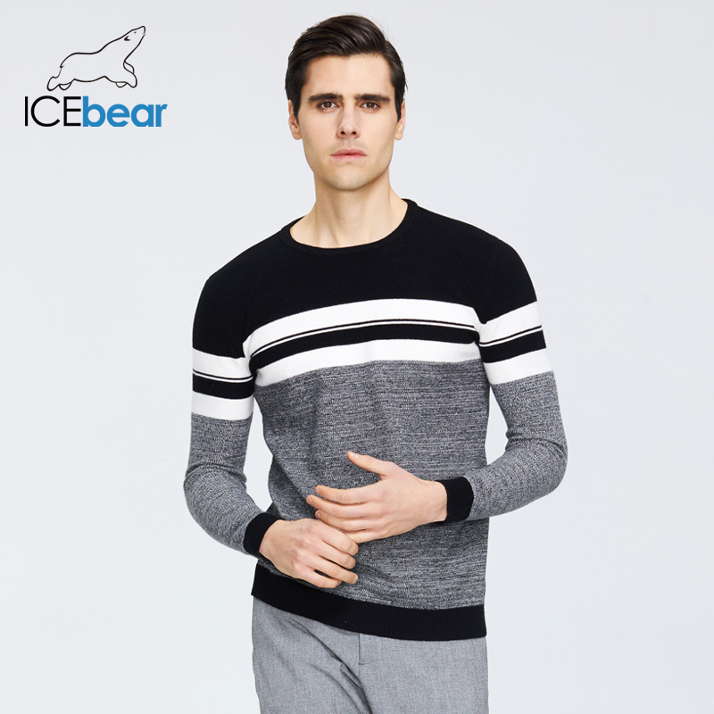 ICEbear 2020 Spring New Male Sweater Casual Men's Pullover Brand Men's Clothing  1723