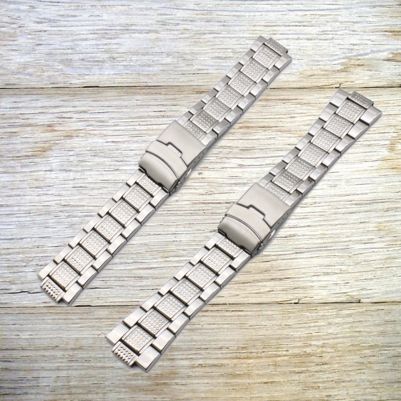 Watch Accessories (Band) Stainless Steel Watch Band Pineapple Grain MEN'S Watch Dial Pendant Protruding Opening 26*12 Size 22*12